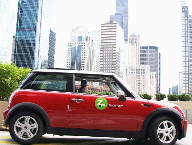 An image of a ZipCar from the company's website