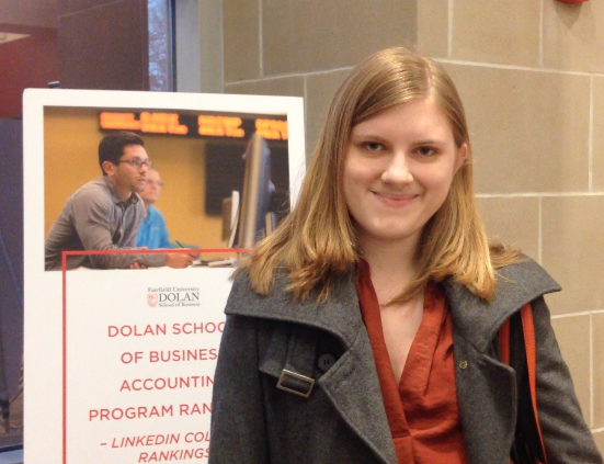Natash Angelovish '15, is a Communications major at Fairfield University who is actively trying to find a job.
